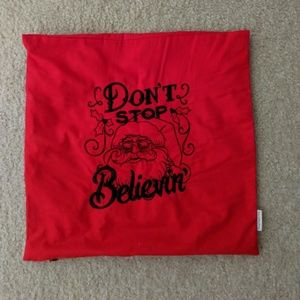 Other - Don't stop believin Santa pillowcase Journey